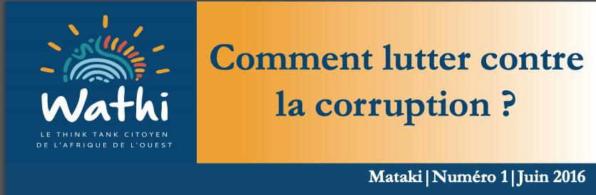 Le Mataki sur la corruption